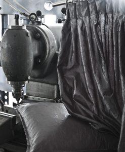 Prisma grå Gardin och kuddfodral
