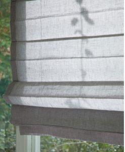 Hissgardin i linne grå Hasta