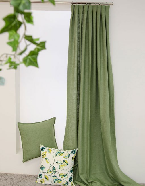 gardin lina grön och grönska kudde