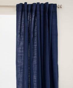 gardin lina mörkblå