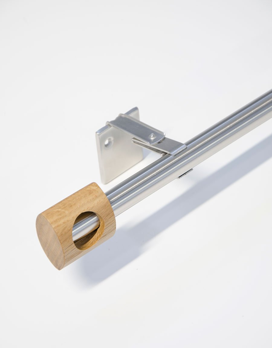 Gardinstång Vision ek rostfritt stål