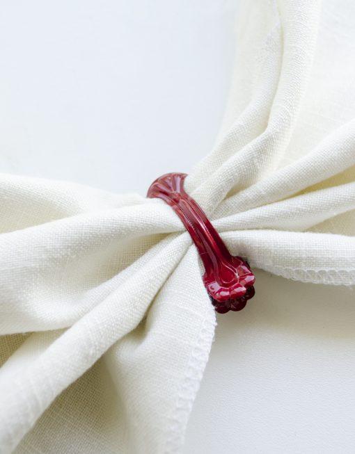 Dekorklämma servettring röd Hasta