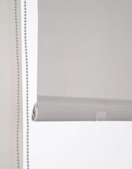 Rullgardin Screen ljusgrå bottenlist