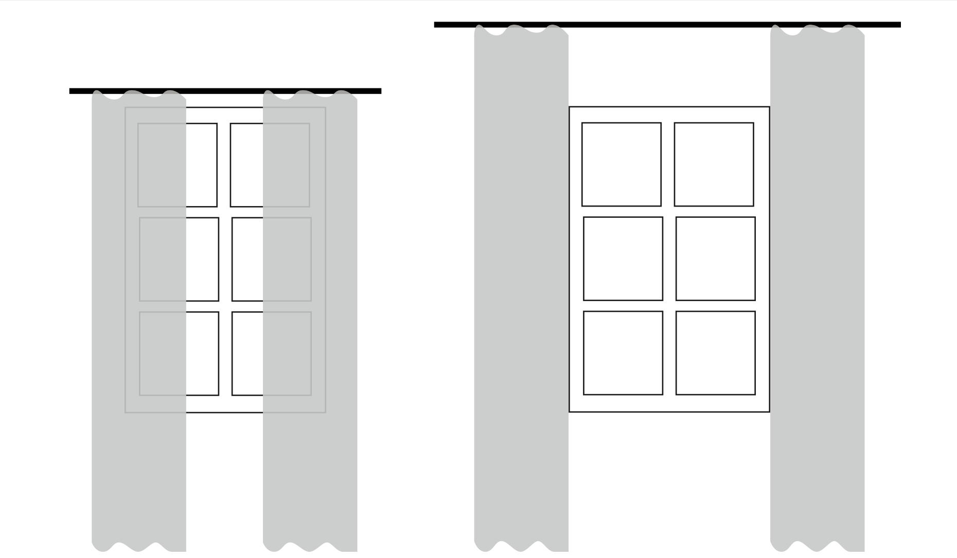 hur sätter man upp gardiner