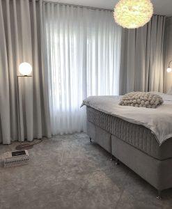 Mörkläggande gardin Good Night, måttillverkad, vit