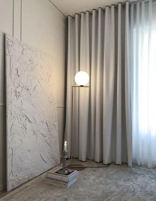 Mörkläggande gardin, måttillverkad, vit