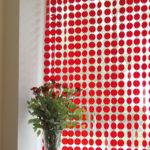 draperi panelgardin o-life röd