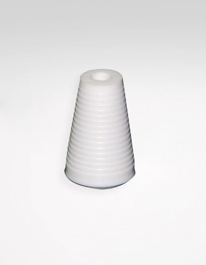 Ändknopp för lina, vit plast