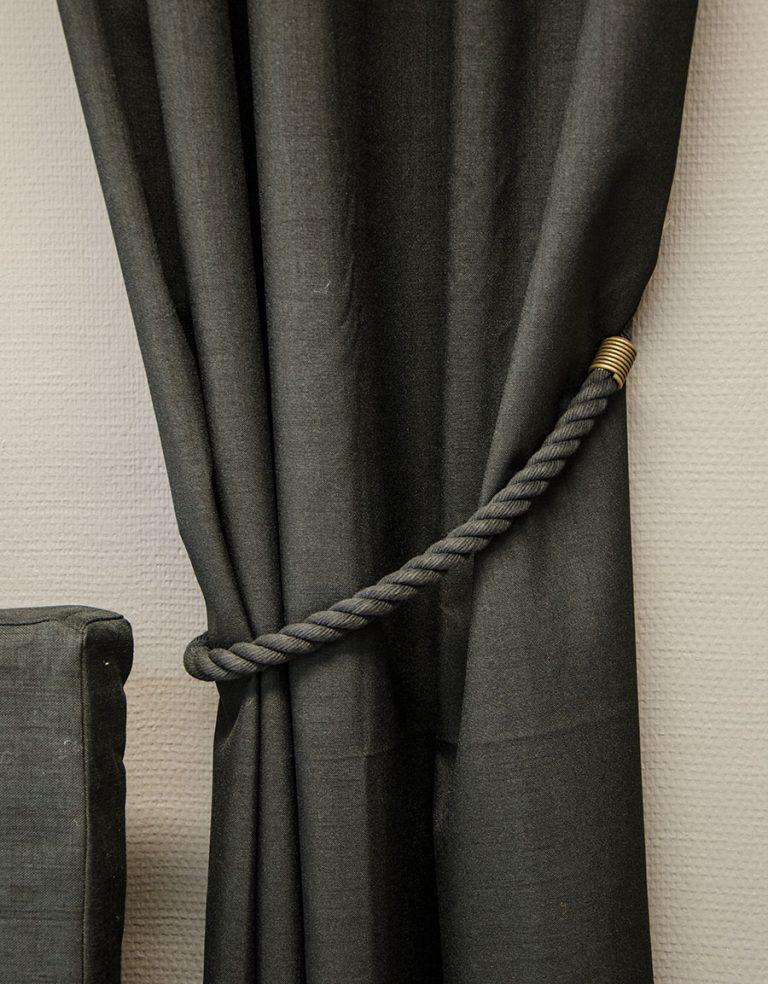 Gardinomtag Balder Rep svart