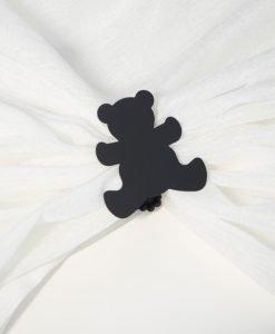 Servettring och dekorklämma Nalle svart