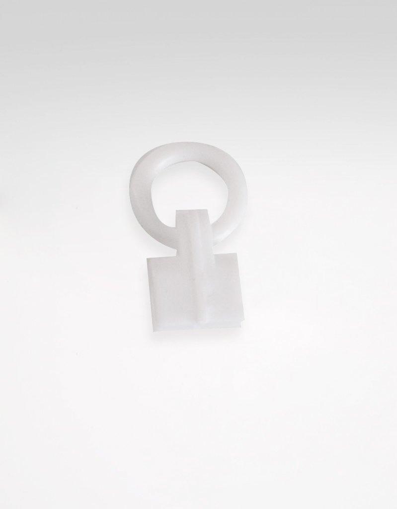 Hissgardinsring med barnsäkerhetsfunktion, vit plast