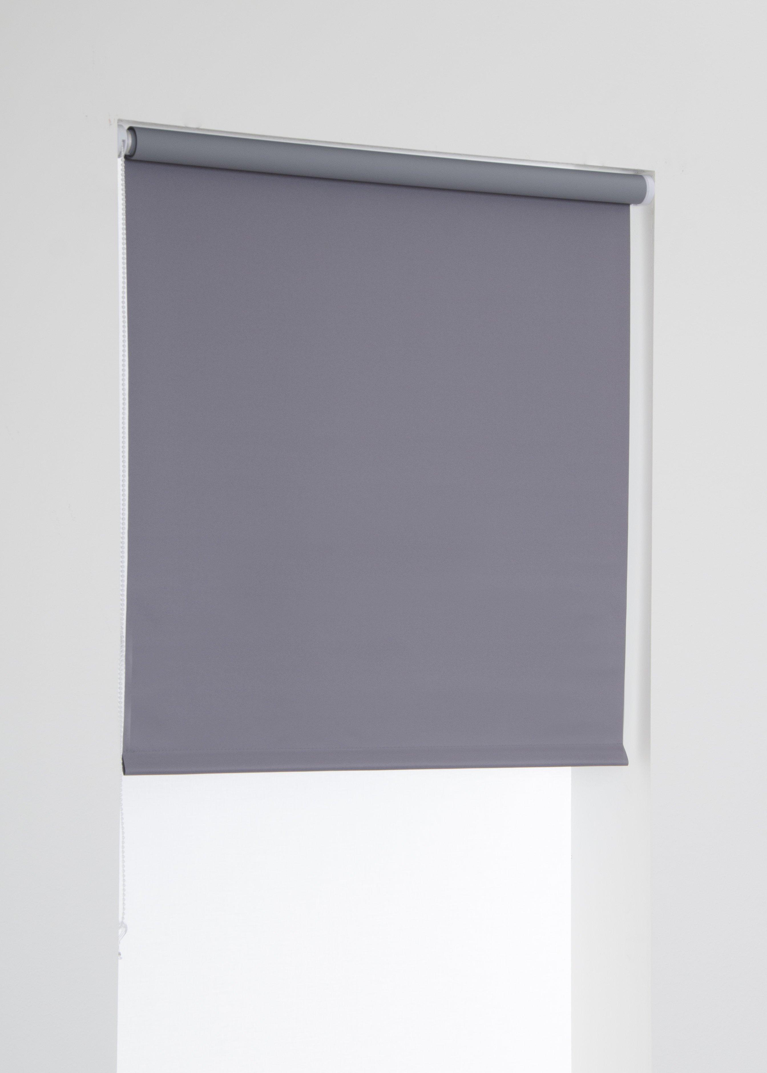 Mörkläggande rullgardin grå Hasta
