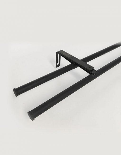 billig gardinstång svart dubbel