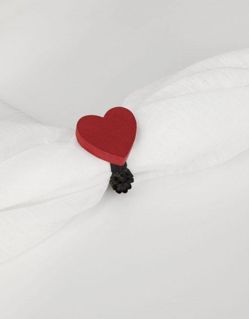 Dekorklämma och Servering Hjärta Hasta