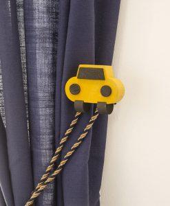 Omtagsfäste bil, gul, barnrum Hasta