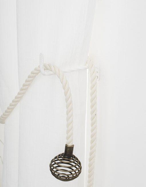 Omtagsfäste för gardinomtag, Smedjan vit