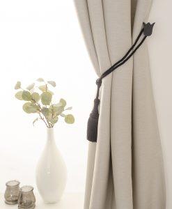 Omtagsfäste för gardinomtag, mörkgrå tulpan