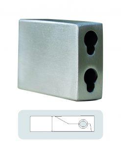 Förlängare till väggfäste Rectangle, rostfritt stål Hasta