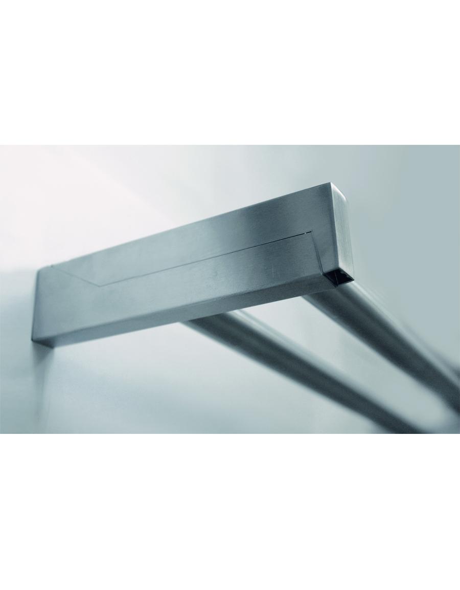 väggfäste Rectangle flat dubbelt rostfritt stål Hasta