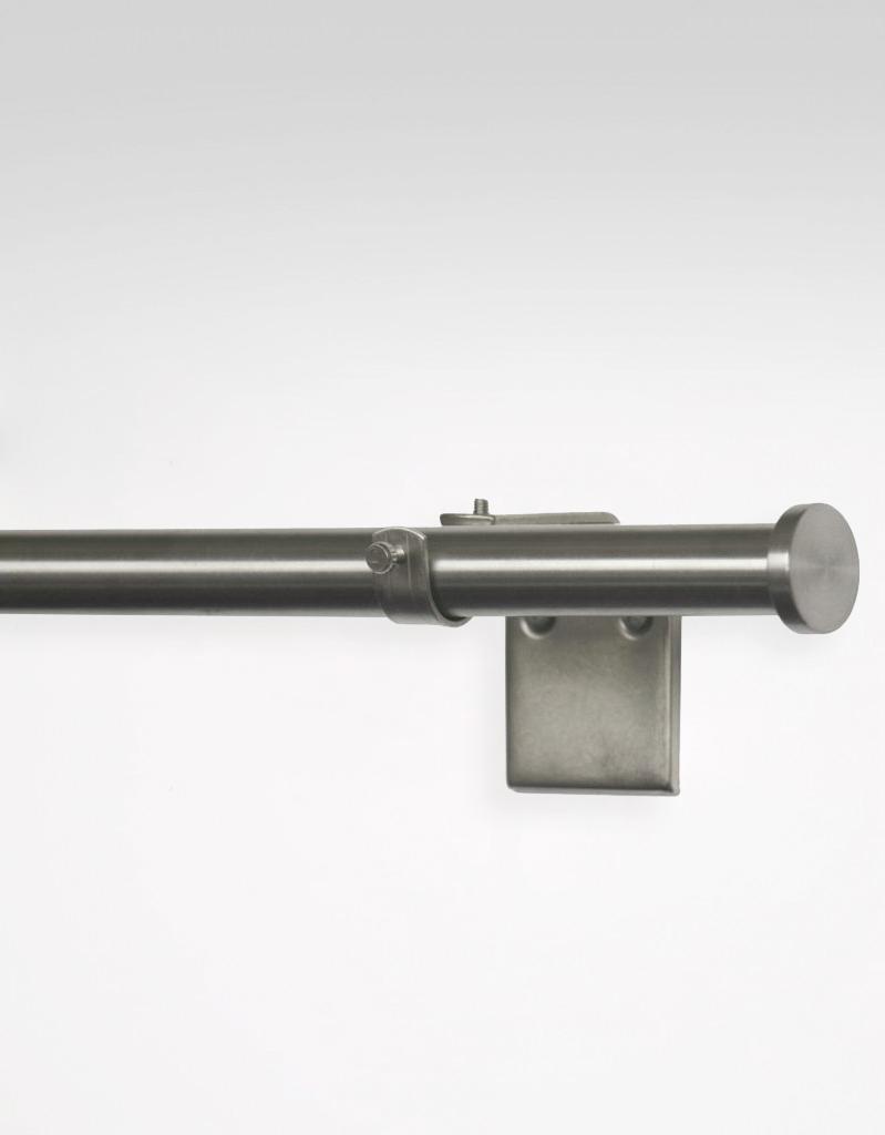 Gardinstång Circle, rostfritt stål i reglerbar längd 130-240 cm, 25/28 mm