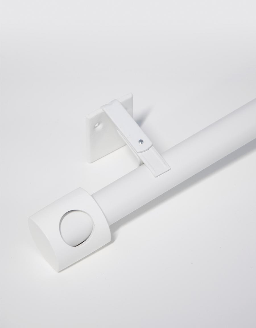 Gardinstång Vision, vit, 26-28 mm, reglerbar 130-240 cm