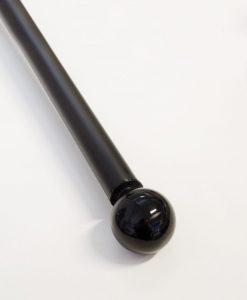 Ändknopp Klara, 26/28 mm, svart