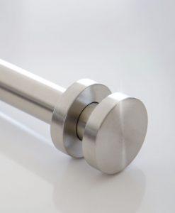 Stångdekor Ändknopp Infront Round Rostfritt stål Hasta