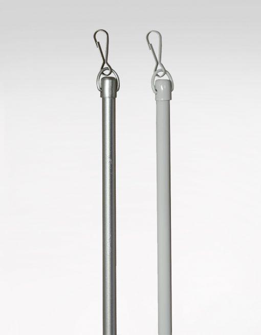 Dragstav för panelvagn Hasta, vit och silver