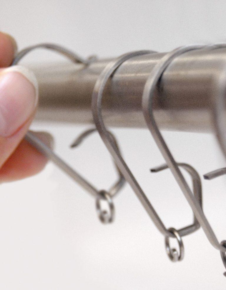 Gardinring click on Rostfritt stål Hasta