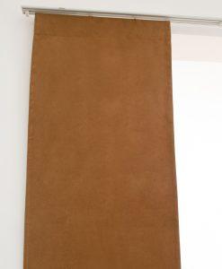 Panelgardin Suede, mellanbrun