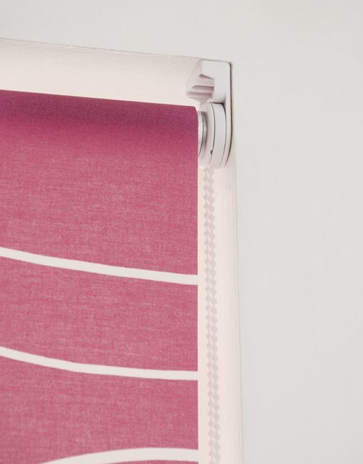 Rullgardin rosa, måttillverkad, Hasta