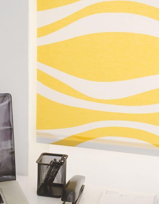 Rullgardin gul, måttillverkad, Hasta
