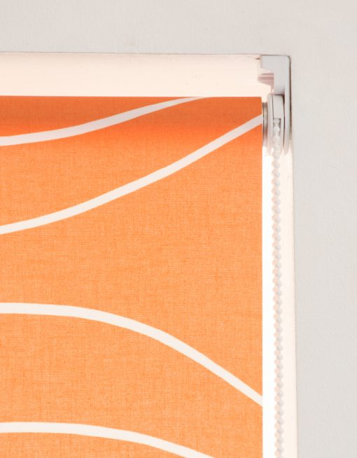 Rullgardin orange, måttillverkad, Hasta