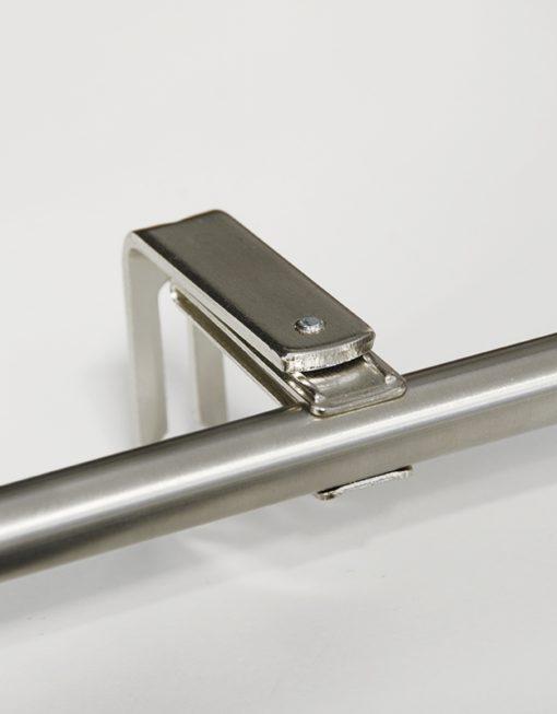 Stångfäste Clips, silver, 11/13 mm