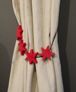 Gardinomtag sjöstjärna röd, barnrum, Hasta