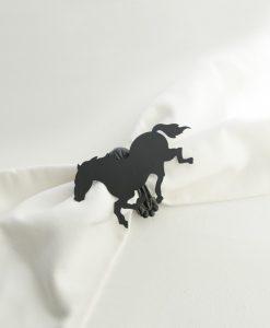 Dekorklämma häst Svart