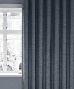 Måttillverkad gardin blå, mörkläggande Vila