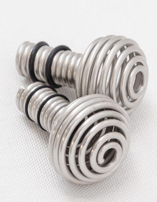 Ändknopp Balder miniklot, silver, 18/20 mm