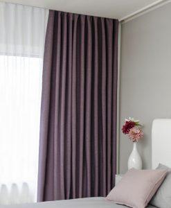 Hotellgardin lila måttillverkad mörkläggande Hasta