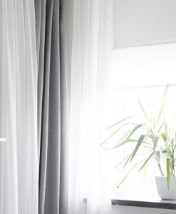 Måttillverkad gardin Vila, mörkläggande, grå