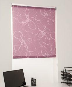 Rullgardin blommig rosa, måttillverkad Hasta