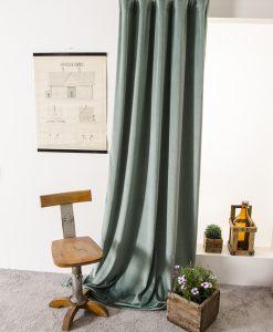 gardin sammet grön sammetsgardin