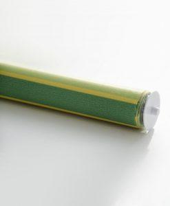 Rullgardin randig, grön/gul, måttillverkad, Hasta