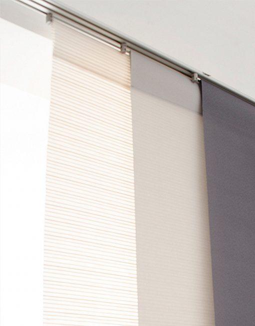 panelgardin vit ljusgrå grå Hasta