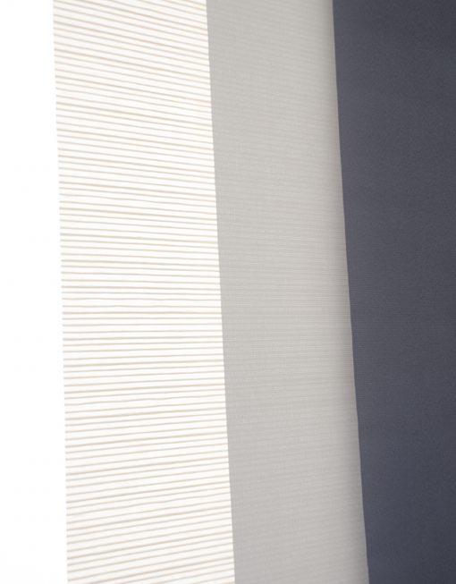 Panelgardin vit grå antracit Hasta