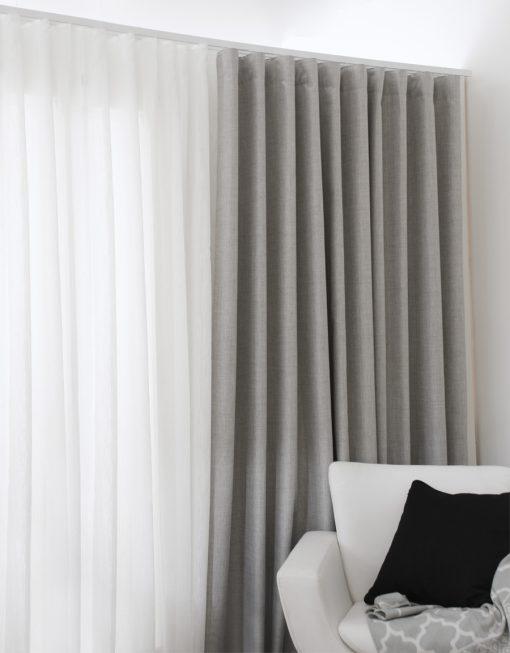 hotellgardin grå, måttillverkad Hasta