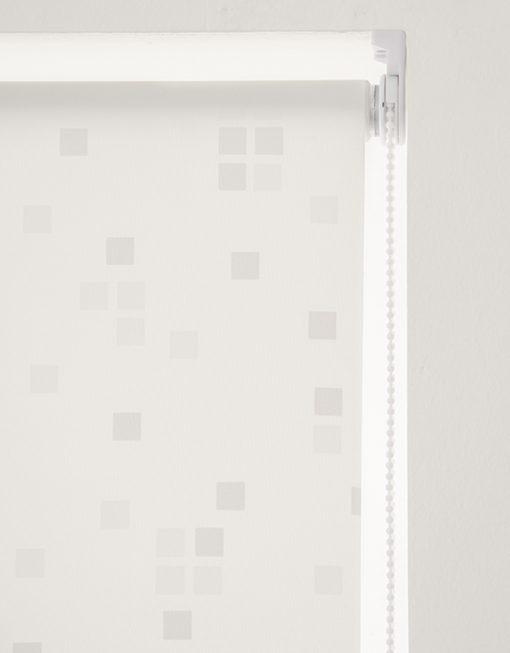 Rullgardin Cube, vit, måttillverkad