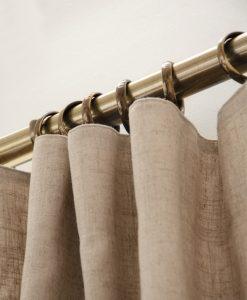 Gardinring med gjuten ögla, antikmässing, 10 st