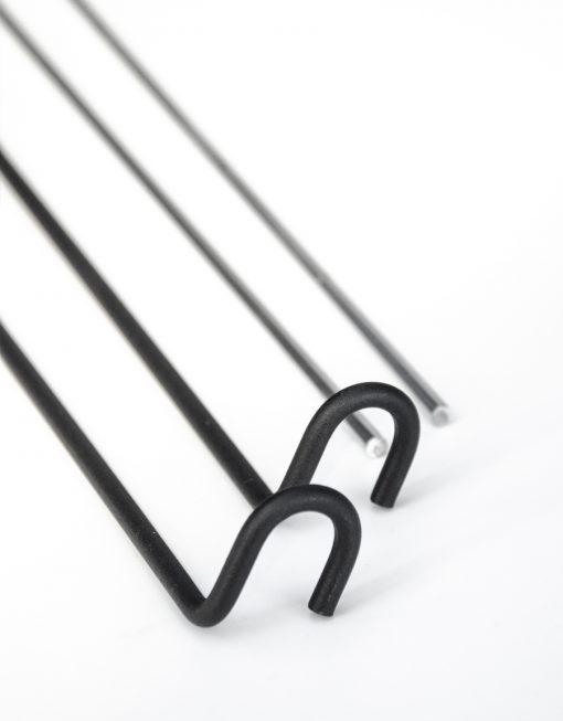Panelhängare svart, 11/13 mm, Hasta