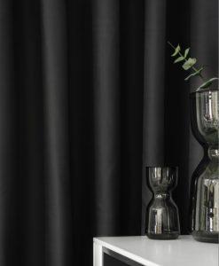 Hotellgardin svart, mörkläggande, måttillverkad